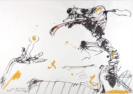 An image of Give the dog a bone by John Olsen