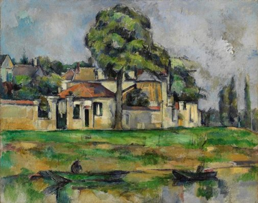 An image of Banks of the Marne by Paul Cézanne