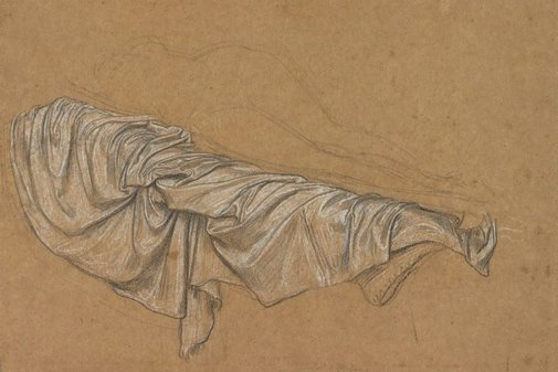 An image of Drapery study for Cymon and Iphigenia by Lord Frederic Leighton