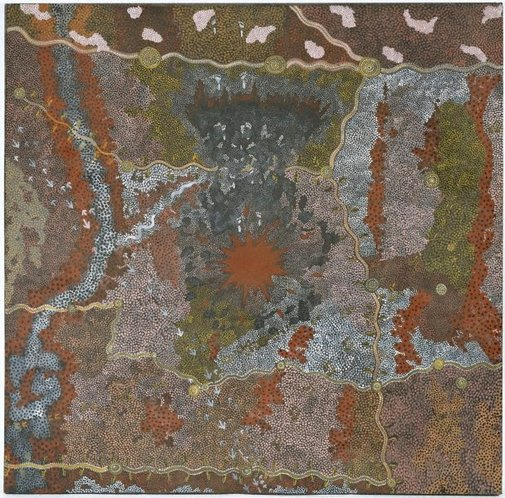 An image of Warlugulong by Clifford Possum Tjapaltjarri, Tim Leura Tjapaltjarri