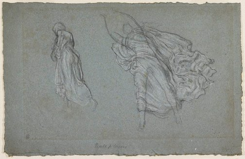 An image of Drapery study for Greek girls playing ball by Lord Frederic Leighton