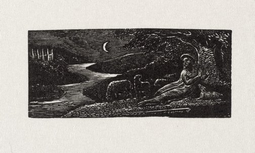 An image of Colinet resting by night by William Blake