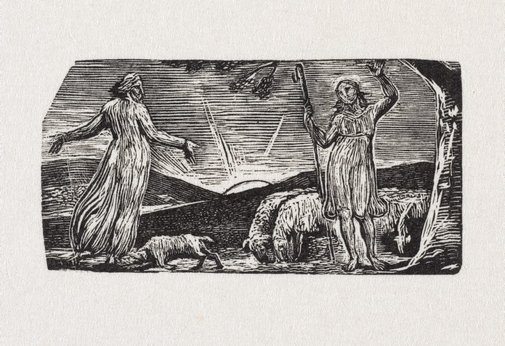 An image of Thenot remonstrates with Colinet by William Blake