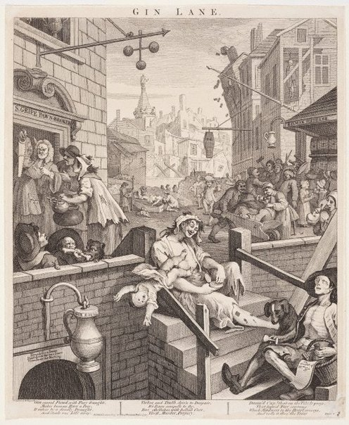 An image of Gin Lane by William Hogarth