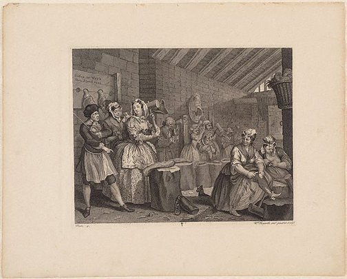 An image of A Harlot's Progress: plate 4 by William Hogarth
