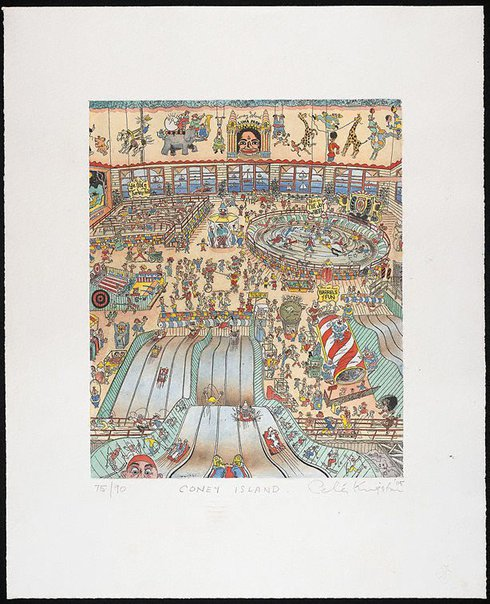 An image of Coney Island by Peter Kingston