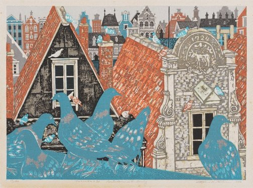 An image of Amsterdam in the morning by Kitaoka Fumio