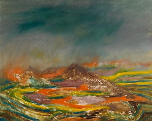 An image of African landscape by Sidney Nolan