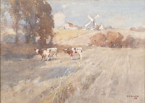 An image of A Suffolk farm by BE Minns
