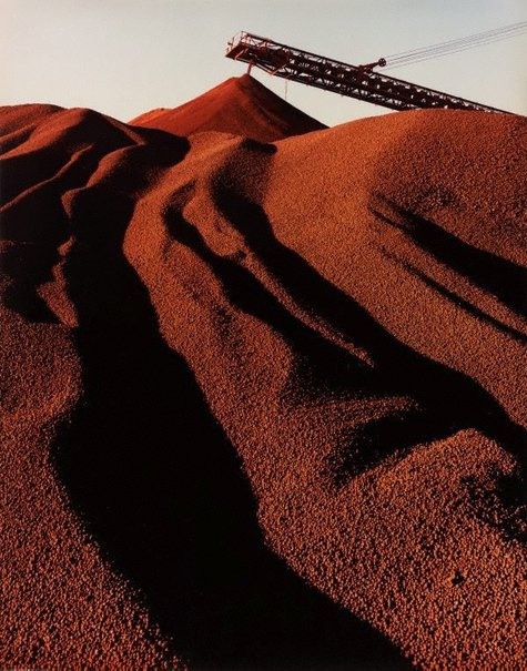 An image of Hamersley Iron, iron ore stockpiling, Dampier, WA by Wolfgang Sievers