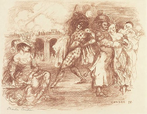 An image of L'alcade dans l'embarras by Charles Conder
