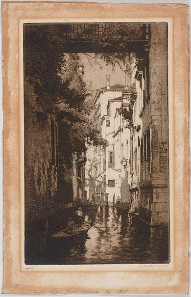 An image of Sunlit canal, Venice by Thomas Friedensen