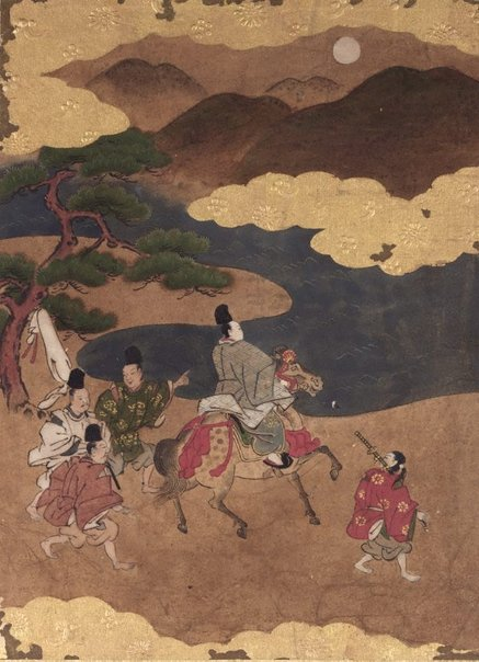 An image of Episode from 'Akashi' (Chapter 13) of the 'Tale of Genji' by Tosa School