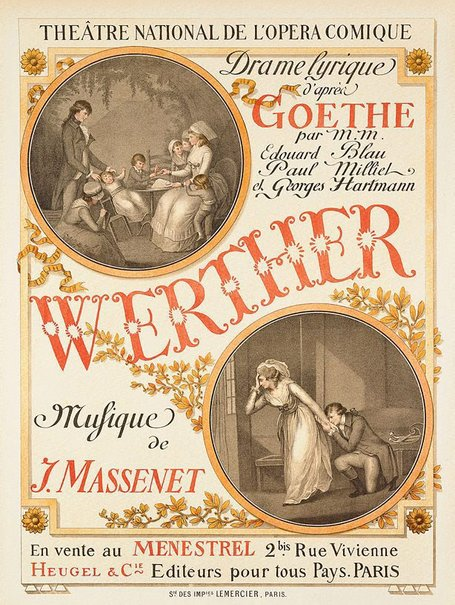 An image of Werther by Eugène Grasset