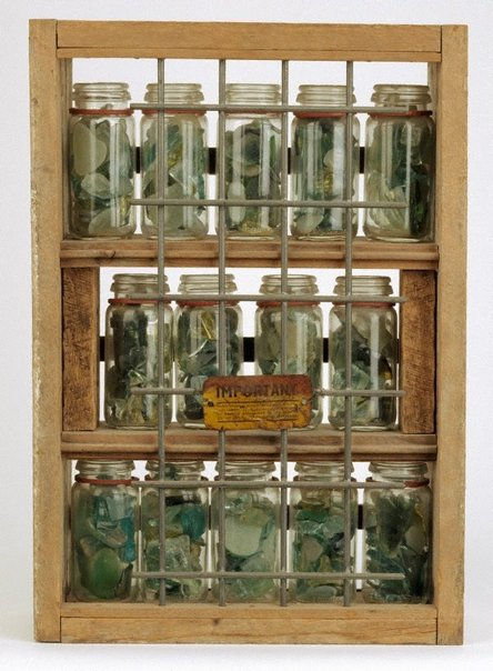 An image of Bottled glass by Rosalie Gascoigne