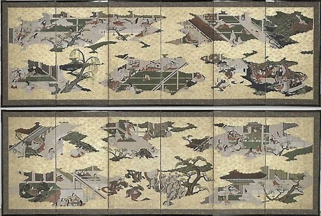 An image of Ten scenes from the 'Tale of Genji'