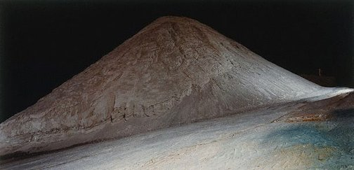 An image of The large mound of crushed gypsum at Ballast Head (1) by Ed Douglas