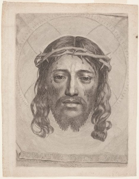An image of The veil of Saint Veronica by Claude Mellan