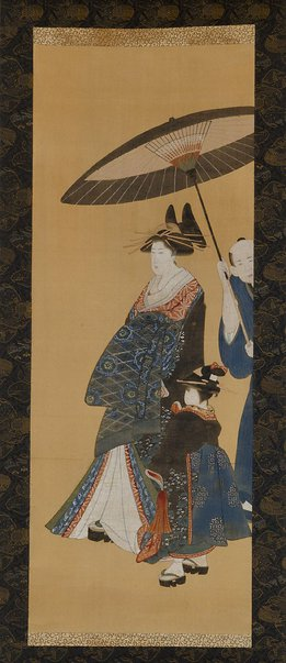 An image of (Courtesan parading) by Utagawa school
