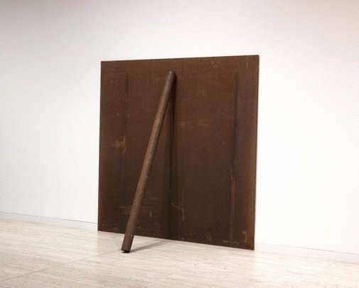 An image of Plate, pole, prop by Richard Serra