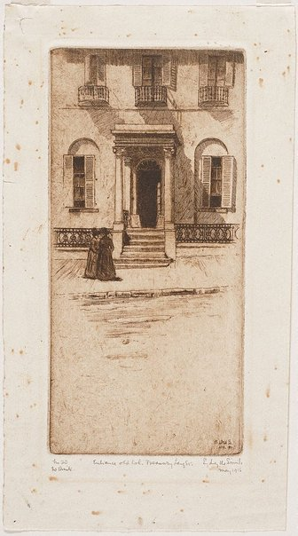 An image of Old Colonial Treasury by Sydney Ure Smith