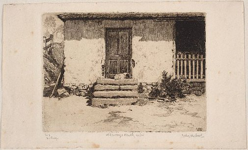 An image of Old cottage, Hartley by Sydney Ure Smith