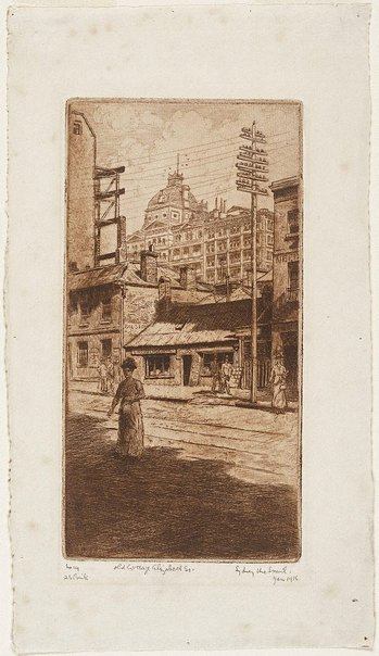 An image of Old cottage, Elizabeth St. by Sydney Ure Smith