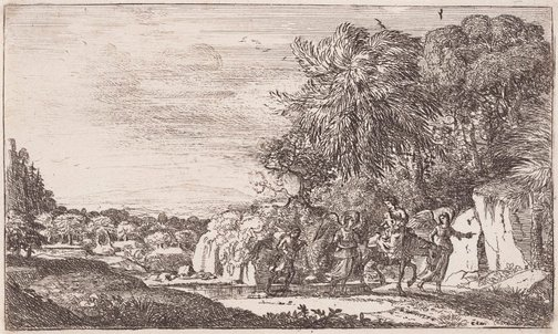 An image of The flight into Egypt by Claude Lorrain