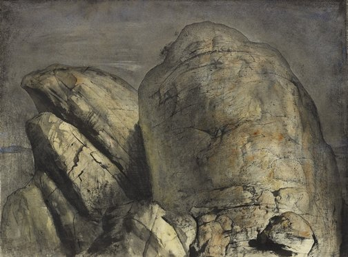 An image of The summit, Mt Wellington II by Lloyd Rees