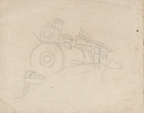 An image of recto: Study for 'Snow-bound', verso: Seated female study by Lyonel Feininger