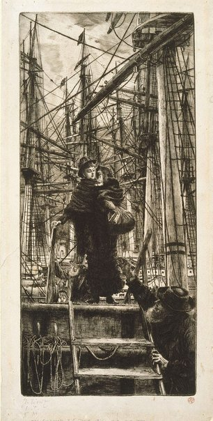 An image of The emigrants by James Tissot