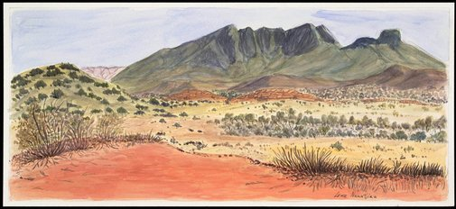 An image of Mt Sonder Lookout by Lenie Namatjira