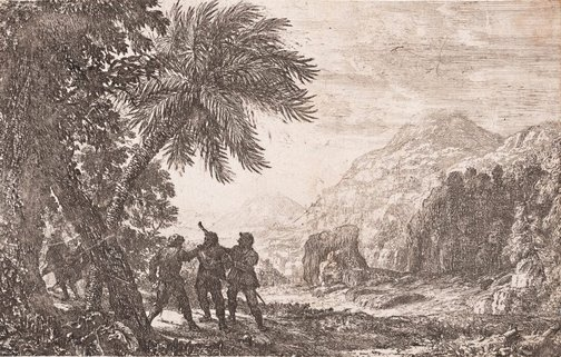 An image of Landscape with brigands by Claude Lorrain