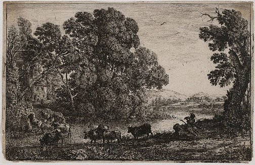 An image of The cowherd by Claude Lorrain