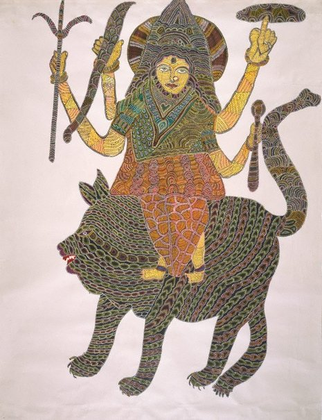 An image of Goddess by Jangarh Singh Shyam