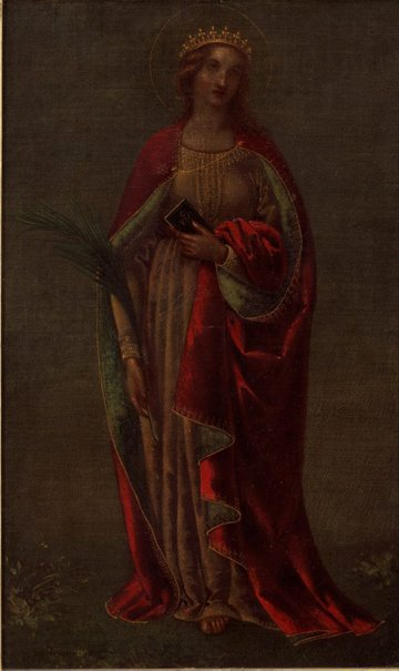 An image of St. Catherine by Adelaide Ironside