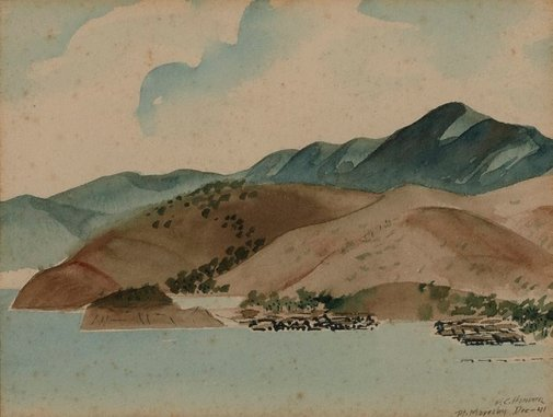 An image of Port Moresby by Frank Hinder