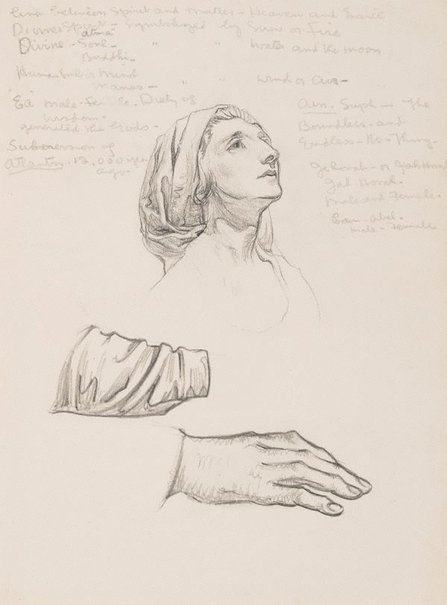 An image of (Female academy study) by Christian Waller
