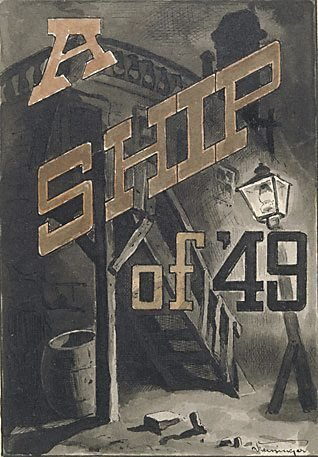 "An image of Idea for title page (for Bret Harte's ""A ship of '49"") by Lyonel Feininger"