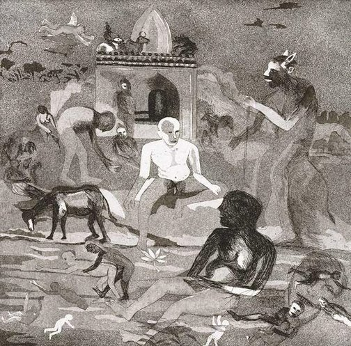 An image of In the river Jamuna by Bhupen Khakhar