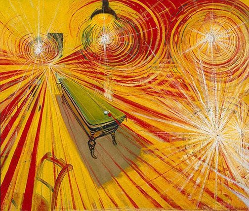 An image of The night café by Brett Whiteley