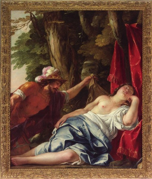 An image of Mars and the vestal virgin by Jacques Blanchard