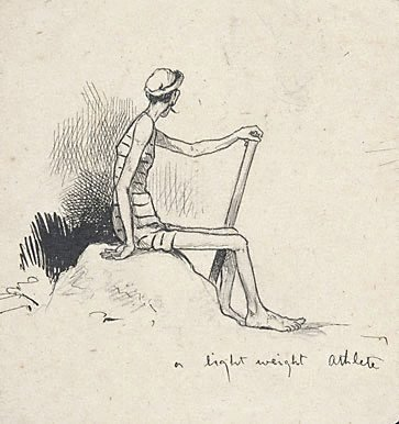 An image of A light weight athlete by Lyonel Feininger