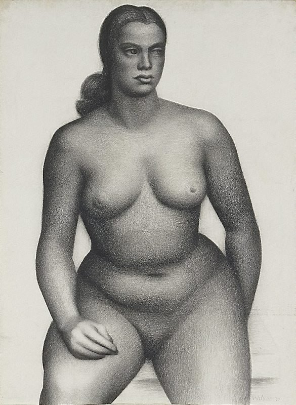 An image of Seated female nude, front view