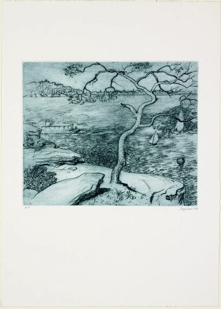An image of Northwood Point, Lane Cove River by Lloyd Rees