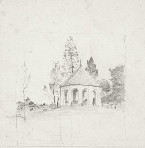 An image of The Governor's Bath House, Parramatta Park by Lloyd Rees