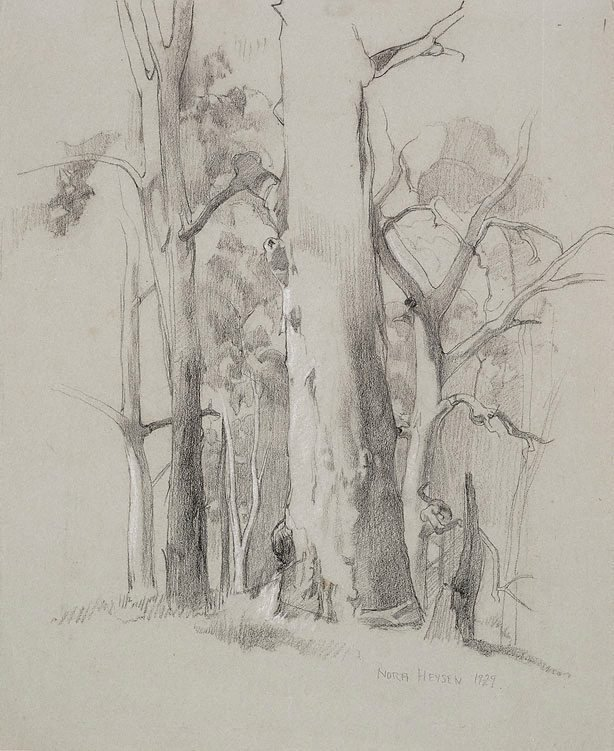 An image of Gum trees, Hahndorf