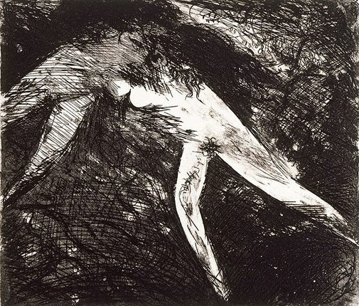 An image of Dark joined figures by Arthur Boyd