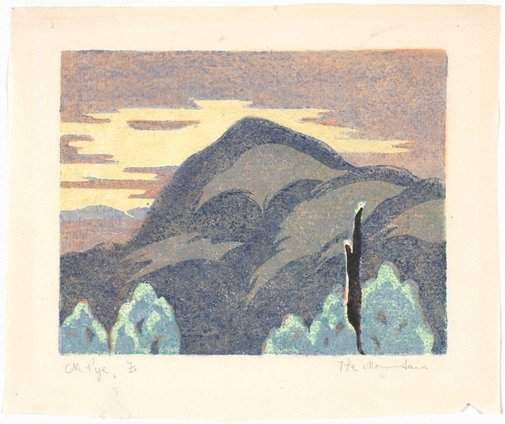 An image of The mountain by Mabel Pye
