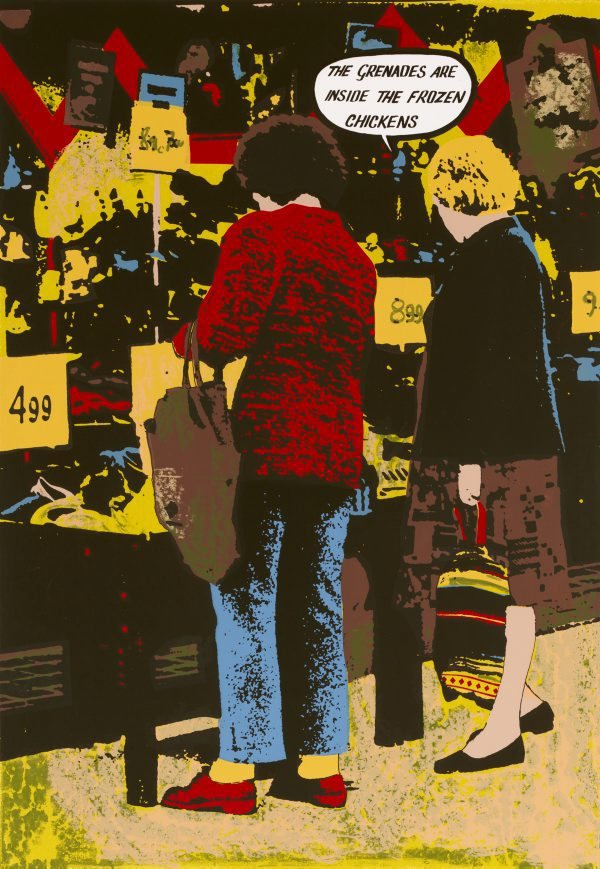 An image of The grenades are inside the frozen chickens